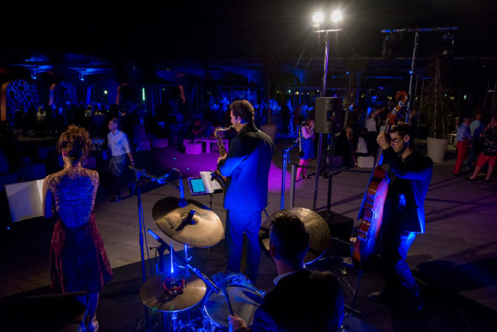 Event planning Band Shades of Blue