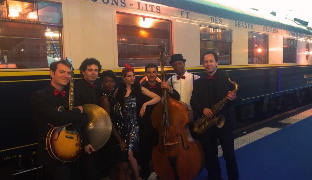 Prestation Agence Evenementielle Shades of Blue Animation à Thème Années folles - Orient Express